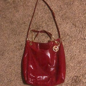 MK snake print purse
